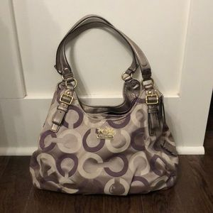 Coach print handbag